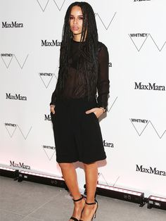 Zoe Kravitz goes simple and sheer at the Whitney Museum of Modern Art, hosted by Max Mara