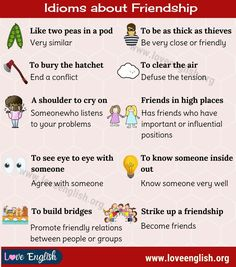 Idioms about Friendship: 10 Popular English Idioms about Friendship - Love English