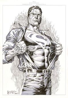 Clark Kent changes into Superman Comic Art