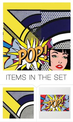 """Retro Pop Art"" by beanpod ❤ liked on Polyvore featuring art"