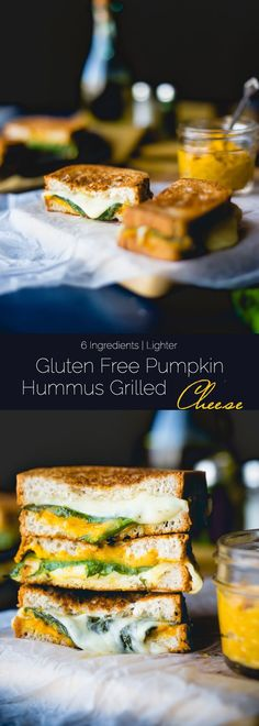 Turn a hummus sandwich into a gluten free grilled cheese that has the creamy, flavor of pumpkin! It's a healthier version that's perfect for fall lunches! Gluten Free Pumpkin, Healthy Pumpkin, Pumpkin Recipes, Fall Recipes, Clean Eating Recipes, Raw Food Recipes, Meatless Recipes, Vegetarian Dinners, Healthy Recipes