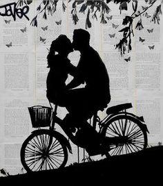 """Saatchi Art Artist Loui Jover; Drawing, """"a little love and adventure"""" #art"""