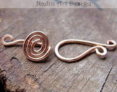 gold bracelet clasp findings  | and Swirl Clasp for necklaces, bracelets : Handmade Jewelry Findings ...