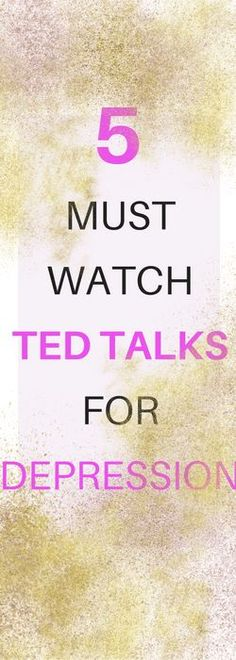 I went down the rabbit hole of TED talks again and I thought I would share the best ones I found about depression. These aren't all uplifting but sometimes you need to hear some realness. Positivety kind of feels like a big pile of garbage when you're depressed anyways (if you've ever tried to...