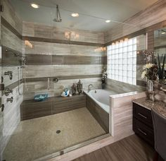 I like this tub in a shower enclosure