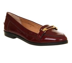 Office Victoria Loafer Burgundy Patent Leather - Flats