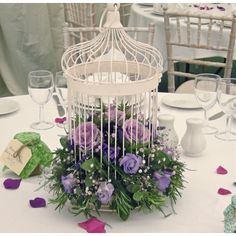 jaulas decoradas con flores naturales - Cerca amb Google