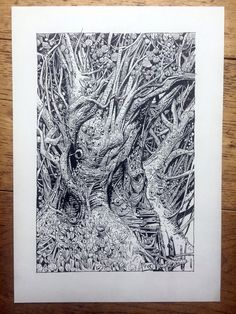 "Image of ""Treehouse"" original artwork."