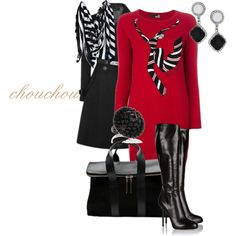 """I love black and red"" by chouchou-luppe on Polyvore"