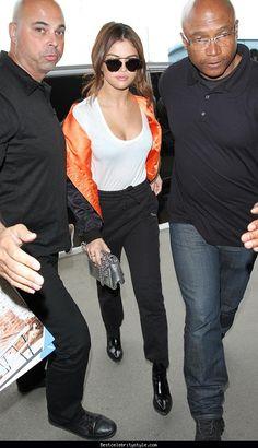 nice Selena Gomez LAX Airport   Style