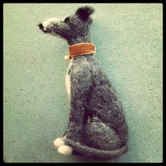 Pearl the needle felted Whippet