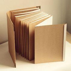 A4 Accordion album // Kraft Scrapbook Album // by Dokkipaper