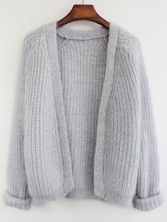 Cardigan décontracté -gris -French SheIn(Sheinside)