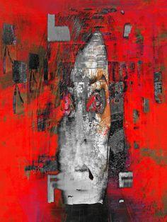 'The grey face' von Gabi Hampe bei artflakes.com als Poster oder Kunstdruck $20.79