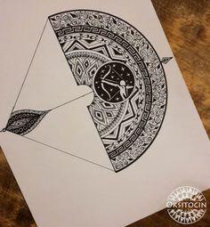 Sagittarius mandala, inkwork ww.oksitocin.com
