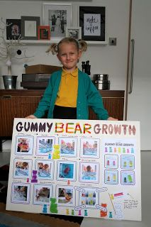 DIY crafts and kids activity ideas for creative parents Stem Fair Projects, Elementary Science Fair Projects, Science Fair Projects Boards, Science Experiments Kids, Science For Kids, Science Ideas, Gummy Bear Science Project, Gummy Bear Experiment, 1st Grade Science