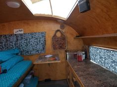 inside the teardrop - much more room than most teardrop trailers