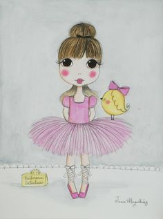 love this one, it remembers me my friend Vania and her daughter M :) - BailarinaCatarina - Jana Magalhães   www.janamagalhaes.com