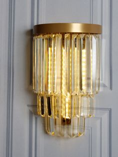 Lovely Gold Crystal Wall Light Amazing Ideas