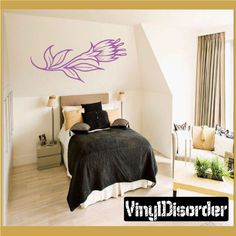 Flower Wall Decal - Vinyl Decal - Car Decal - CF12115