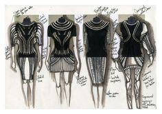 Fashion Design Sketchbook - design drawings and development // Cezanne Agatha Gramson