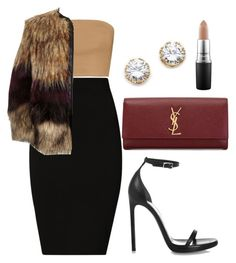 """""""Untitled #388"""" by amoney-1 ❤ liked on Polyvore featuring Plein Sud, Kenneth Jay Lane, Yves Saint Laurent, River Island, MAC Cosmetics, women's clothing, women, female, woman and misses"""