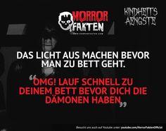 KINDHEITSÄNGSTE 3 - Licht aus Was sind eure Kindheitsängste? #horrorfakten #kindheitsängste #kindheitsangst