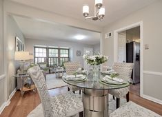 Stunning dining room in the perfect starter home- St. Louis, MO Home Staging Companies, Dining Room, Dining Table, Starter Home, St Louis, House, Furniture, Home Decor, Decoration Home