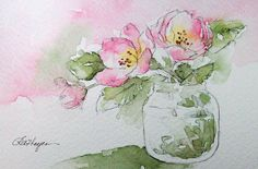 Watercolor Paintings by RoseAnn Hayes: Cherry Blossoms