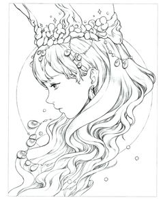 Instant Download! High quality images fit on A4 paper Over 200 printable coloring books available #coloringbook #coloring #portrait #mystica #koreacoloring #download #ebook #coloringpage Adult Coloring Pages, People Coloring Pages, Princess Coloring Pages, Cool Coloring Pages, Disney Coloring Pages, Coloring Books, Anime Poses Reference, Character Design Tutorial, Muse Art