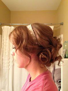 Wedding trial. Hair by Lauren Brown.