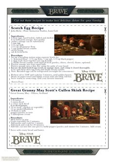 "Scottish Recipes Inspired by Disney/Pixar's ""BRAVE""...Scotch eggs and Cullen Skink."