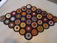 Image result for Free Primitive Penny Rug Patterns