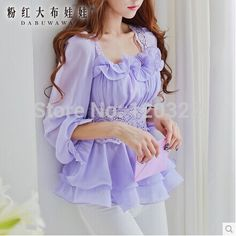 Lilac flouncing blouse