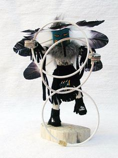 Authentic Native American Navajo Kachina Doll Ceremonial Hoop Dancer