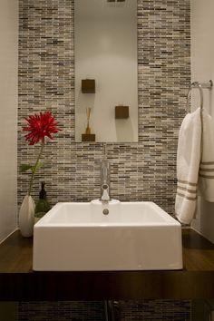 Master bath - shower faucet wall