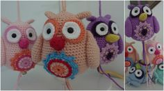 Not in English, but use translate pattern is there Owl Crochet Pattern Free, Diy Crochet And Knitting, Crochet Birds, Cute Crochet, Crochet Animals, Crochet Flowers, Crochet Patterns, Free Pattern, Knitted Owl