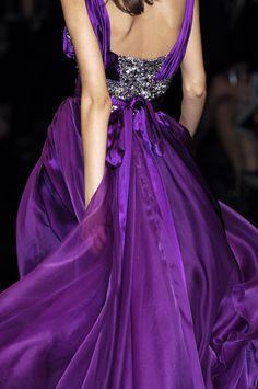 notordinaryfashion: Elie Saab Haute Couture - Detail (via TumbleOn) Mode Purple, Purple Lilac, Shades Of Purple, Purple Dress, Deep Purple, Pink, Magenta, Purple Style, Purple Sparkle