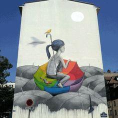 Ce génie crée des GIF animés des plus belles œuvres de street art, ou l'art de sublimer l'art