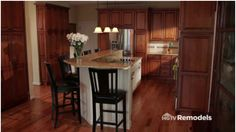 L Shape Kitchen Layout with Island. Close to what our kitchen layout is.