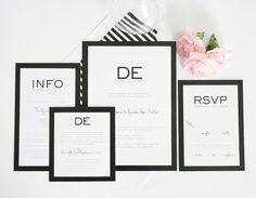Gorgeous Black and White Wedding Invitations
