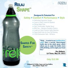 Relaj Shape - Ergonomic, BPA Free Water Bottle. Only $12.99. Get it on Amazon: http://www.amazon.com/Relaj-Shape-Water-Bottle-Children/dp/B00MXCDZOQ