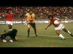 Australia 0 Chile 0 in 1974 in West Berlin. Carlos Reynoso clearly hand balls before shooting in Group 1 at the World Cup Finals.