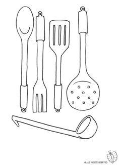 risultati immagini per attrezzi cucina disegni