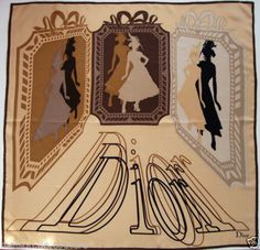 Nwt authentic christian dior beige brown sqaure silk italy multicolor  scarf. FoulardSoieFoulards ... 807d27c39cb