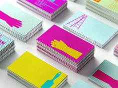 Great colours for new identity for a paint brand wanting to stand out! lovely-stationery-wtp1