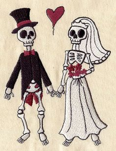 Skeleton Wedding | Urban Threads: Unique and Awesome Embroidery Designs