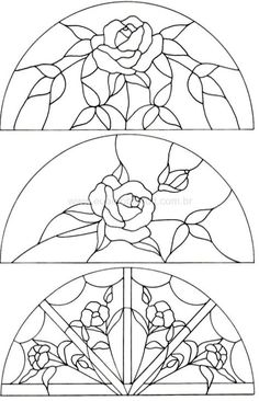 Flowers Drawing Pattern Stained Glass 31 Ideas For 2019 Stained Glass Crafts, Drawings, Glass Painting, Flower Drawing, Mosaic Patterns, Coloring Pages, Glass Art