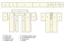 Pattern for sewing a #Kimonono (866×585). Description in German.