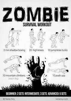 Zombie Apocalypse survival workout